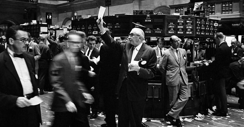 NY stock exchange trading floor