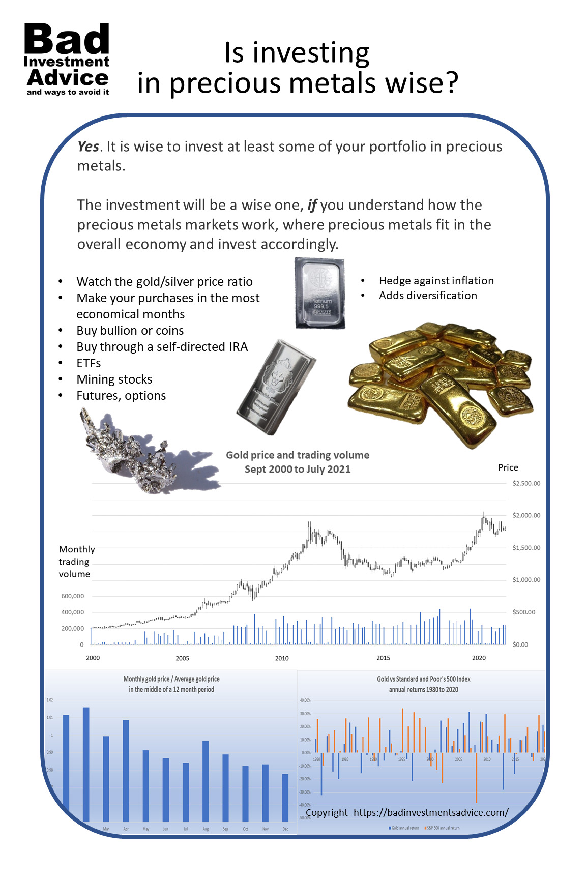 Is investing in precious metals wise - summary